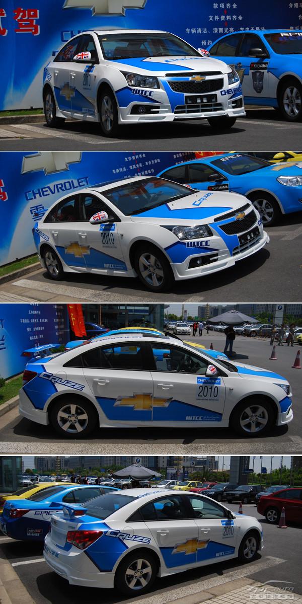 科鲁兹的外观更加夺人眼球的元素,车身侧面的wtcc赛车贴花.高清图片