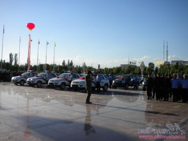 东风悦达起亚狮跑中标鄯善县政府采购高清图片